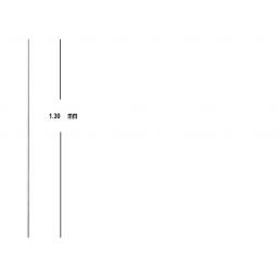 Varilla Acero Tram Antena Diametro 2.5 Mm X 1.3 M Longitud