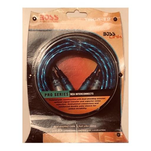 Cable De Audio Boss Trca12 Ficha Rca, Serie Pro , 3,6 Metros