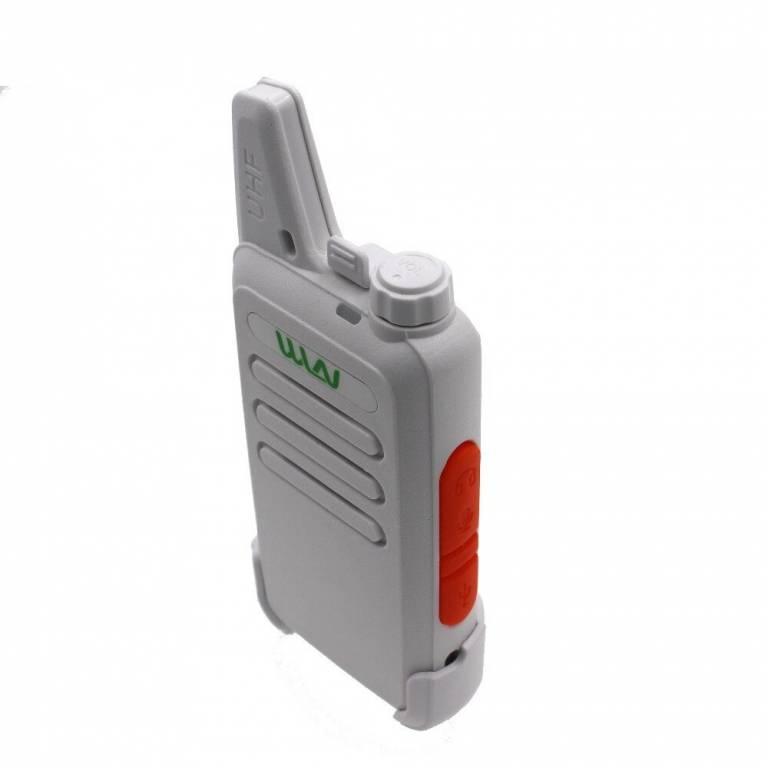 2 Handy Walkie talkie Wln Modelo Kdc1 Blanco +2 Manos Libres